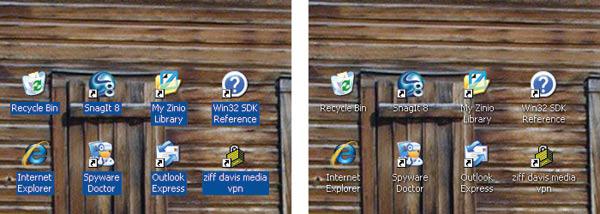 Transparent-background Icon Labels